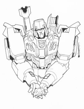 Festival Of Lost Light 30. Megatron by BenPirrieArt