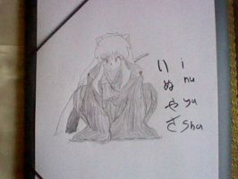 Inuyasha aux crayon by BusterProton