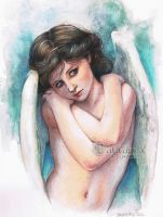 Wet Angel - Bouguereau by LauraPex