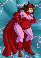 No More Skinny Girls - Part 1 - Scarlet Witch by Axel-Rosered