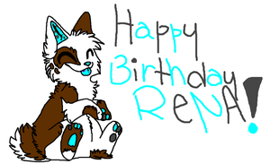 Happy Birthday Rena by TechnoZombi