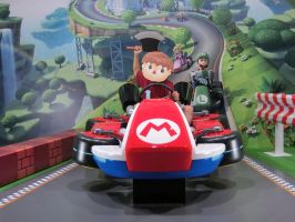 Villager on Mario Cart by himefuji