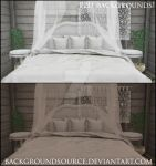 White Bed - Premade Background Base by BackgroundSource