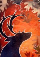 The Stag and the Stars by Of-Red-And-Blue