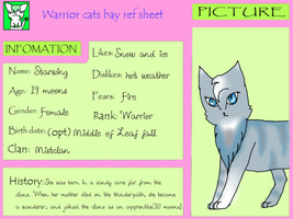 Ref sheet: Starwing, for Warrior cats bay by Rainstarlightsky
