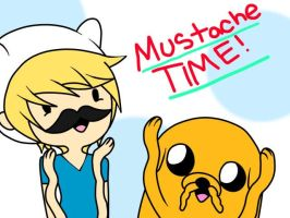 Mustache Time with Finn and JakexD by SourBears