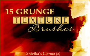 Grunge Texture Brushes by spiritcoda