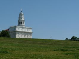 Nauvoo Temple and Hill by MrRstar
