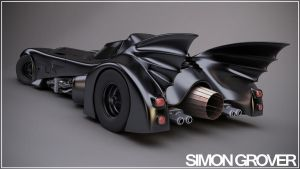 Tim burtons 1989 bat mobile by spikysi
