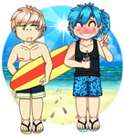 Two gays at a beach by 2852-8139-3580