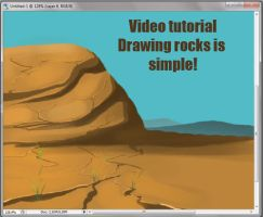 Drawing rocks video tutorial by kotenokgaff