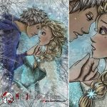 Jack Frost and Elsa by MarieJane67777