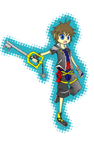 Kingdom hearts Sora by fireykaigurl