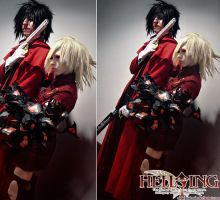 Hellsing Cosplay: Alucard and Seras: Anime Boston by Redustrial-Ruin