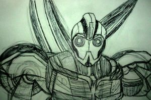 Quick Sketch: Bumblebee by InkArtWriter