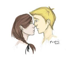 Second first kiss by breath-in