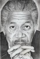 Morgan Freeman by Daricelli