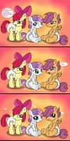 Cutie Mark Crusaders: Diaper Testers! Yay! by Hourglass-Sands