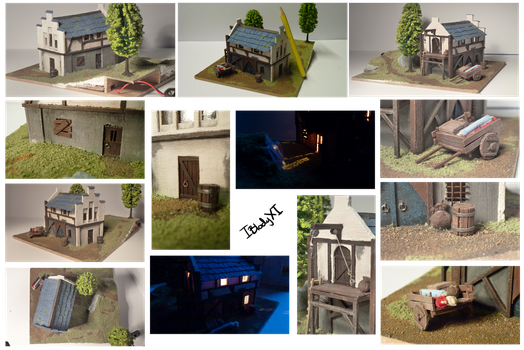 medieval storehouse miniature -detail- by IBlodyXI