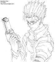 Vash Stampede, Lineart by nutzies