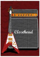 CloseHead - Flying V Paper by paldipaldi