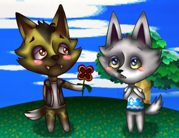 ACNL: Kyle And Fang by 1nklash