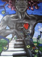 The One Armed Pianist by NiqueBilbo