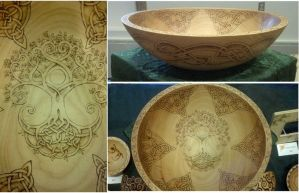 Celtic Tree Of Life Bowl by ladyfireoak