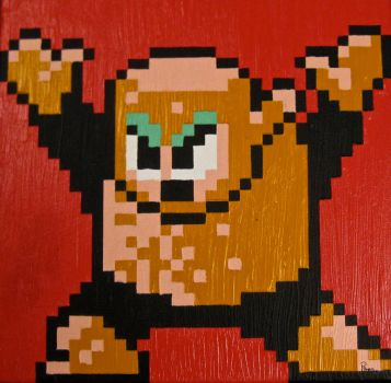 Woodman Pixel Painting by RubiksPhoenix
