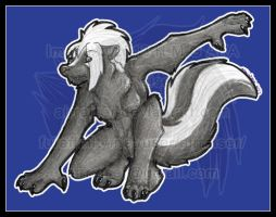 Pin Up: Crouching Skunk 2013 by AirRaiser