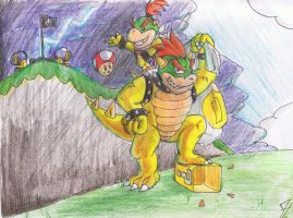 Bowser and Bowser Jr by Vdeogamer