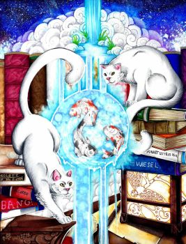 Books Cats by DeathRage22
