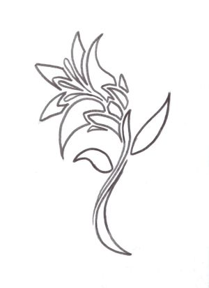 tattoo flower designs. Tribal Chinese Tattoo Design #