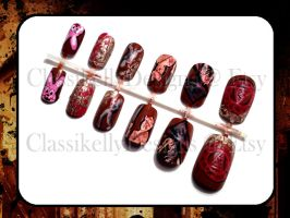 Silent Hill Glow in the Dark Nail Art by Classikelly