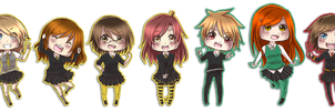 Pottermore chibis by HatoriKumiko