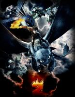 How to train your Dragon Poster Storm by FARetis