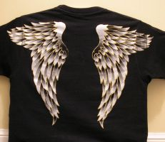 Angel Wings Shirt Back by sirris
