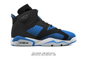 Air Jordan 6 'Royal' by BBoyKai91