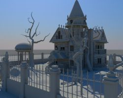 haunted house by creaturealias