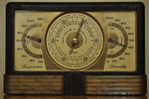Art Deco Barometer by Jrathage-Stock