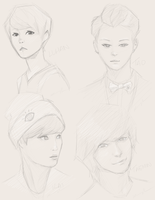 Kpop doodles by Kiba-Shiruba