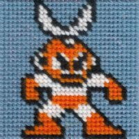 DLN. 003 Cut Man cross-stitch by ZetaGame