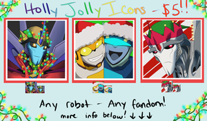 Holly Jolly Icons! - $5!! by TheDemonSurfer