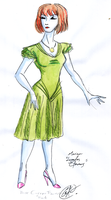 Costume Design. Marina's green Dress by DemonCartoonist