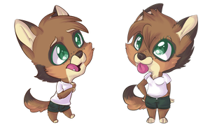 Chibi Commission - Puppies by CherryBuns