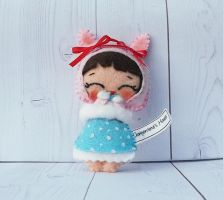 The little Winterina doll bunny by ClementineandRoy
