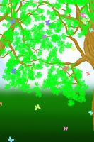 FREE Butterfly Forest BG by YuniNaoki
