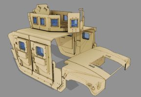 WIP - Armored Vehicle - HMMWV by freiheitskampfer