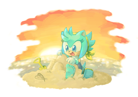 Sunset Castles by crayon-chewer