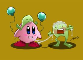 Kirby vs Ubi by geogant